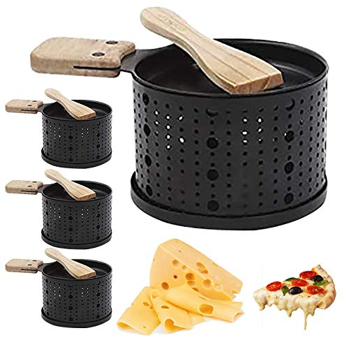Cheese Bread Grill, Cheese Raclette Table Grill, Pan Picnic Kitchen Supplies Candle Slow Oven Melt Raclette Cheese Camping Portable Oven (BK 4PC)