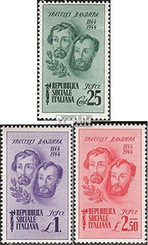 Prophila Collection Italia Michel.-No..: 663-665 (Completa Edizione) 1944 Fratelli Bandiera (Francobolli per i Collezionisti)
