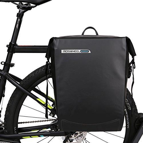 ArcEnCiel Bike Bag Bicycle Panniers Waterproof Rack Trunks Rear Seat Carrier Pack