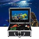 ASHATA Fish Finder Camera, Underwater 30 LEDs 1000TVL Telecamera Subacquea per Pesca, 9 Pollici TFT...