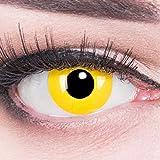 Lentillas de color amarillo Yellow 1 par. Para Halloween Carnaval, cosplay de anime, gratis estuche de lentillas sin graduación