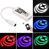 OurLeeme Controller LED Smart WiFi Controller LED Strips per luci LED RGB 5050/3528 Strip Funziona con Alexa, Google Home, IFTTT, APP Android/iOS