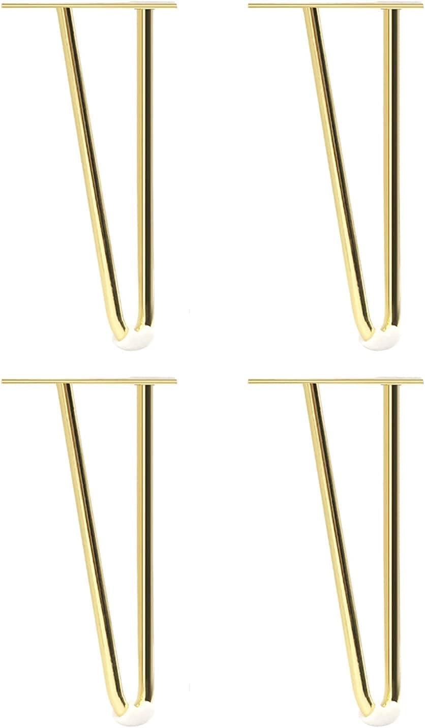 Qikafan Heavy-Duty Max shopping 70% OFF Hairpin Feet 25Cm Table 10In Suitable Legs