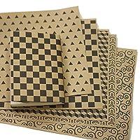 紙製ブックカバー 和柄パターン4 (クラフト紙)