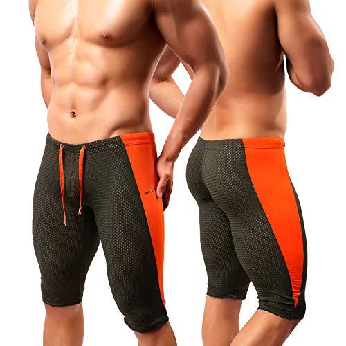 Arjen Kroos Pantalones Cortos Deportivos Leggings Hombre Pantalón Corto De Ciclismo, Transpirables Ropa Interior para Yoga Running Fitness con Gran Elásticos