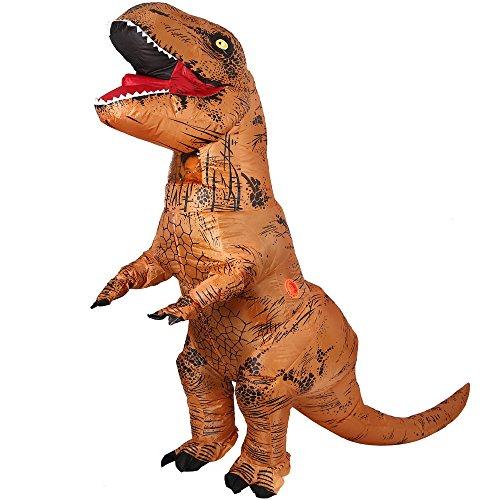 Dinosauro Gonfiabile T-Rex Costume - Adulto unica taglia Halloween vestito costume - con batteria operati ventilatore