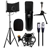 AxcessAbles SF-101KIT Studio Microphone Isolation Shield w/Stand, Condenser Mic & accessories....