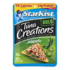 BOLD FLAVOR: Are you ready for a fiesta of flavor? With StarKist Tuna Creations BOLD Jalapeño, we kick things off with our premium wild caught tuna and let it mingle with bell peppers and a burst of picante jalapeño peppers. EXCELLENT SOURCE OF PROTE...