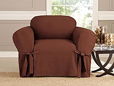 Kashi Micro-Suede Slipcover Sofa Loveseat Chair Furniture Cover