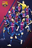 POSTER STOP ONLINE FC Barcelona - FCB - Sports/Soccer Poster/Print (The Players - 2017/2018) (Size: 24' x 36')