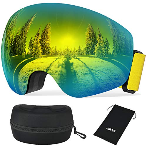 GRM Goggles UV Protection Anti Fog Snow Goggles Over Glasses Ski/Snowboard Goggles for Men Women Youth