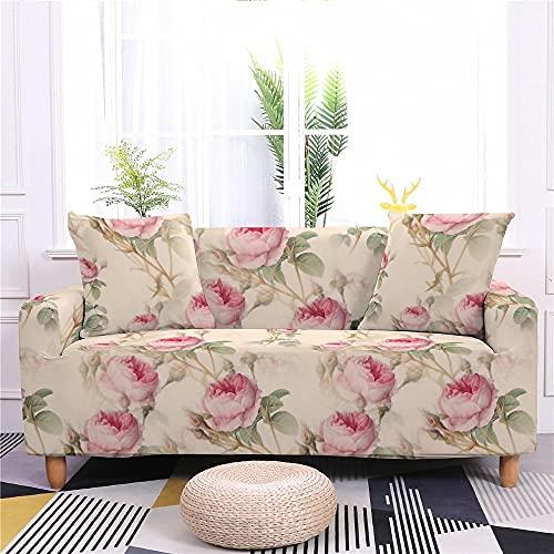 WXQY Sala de Estar Funda de sofá elástica con Estampado Floral Funda de sofá elástica con Todo Incluido Funda de sillón Funda de sofá Antideslizante A2 4 plazas