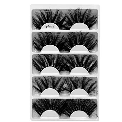 Générique Faux Cils Magnétique, 3D Cils Fausses Magnétiques sans Colle Cils Magnetique Naturel Sexy, 5 pcs Aimants Faux Cils Volume Russe Cils Magnetique Eyeliner Mascaras (M, Taille Unique)
