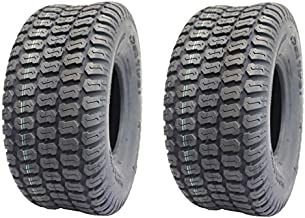 Deli Tire, Set of 2 Tires, 15x6.00-6 Turf Tire, Tubeless 4 Ply Rating, Replacement for John Deere Tractor Riding Mover Lawn and Garden Tire 15x6x6 15-6-6