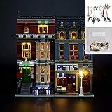SKLLA LED Kit di Illuminazione, applicabile ad Creatore Expert Pet Shop Supermercato Costruzione Modello, Compatibile con Lego 10218 (Solo l'illuminazione, Non Incluso Model)