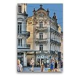 Premium Textil-Leinwand 50 x 75 cm Hoch-Format Grand Hotel