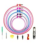 BcPowr 18 PCS Plastic Embroidery Hoop Ring Cross Stitch Hoop,5 Different Sizes Embroidery Circle,DIY Art Craft