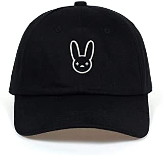 Mighteay Bad Bunny 100% Cotton Hat Rapper Reggaeton Artist Dad Hat Snapbacks Black