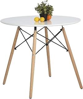 Table à manger ronde ronde de loisirs modernes en bois de thé de cuisine table de salle à manger table de bar table blanche