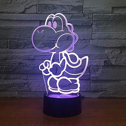 3D Usb Licht Yoshi 3D Led Lampe Usb Cartoon Spielfigur Super Mario Acryl Neuheit Weihnachtsbeleuchtung Geschenk Touch Fernbedienung Spielzeug