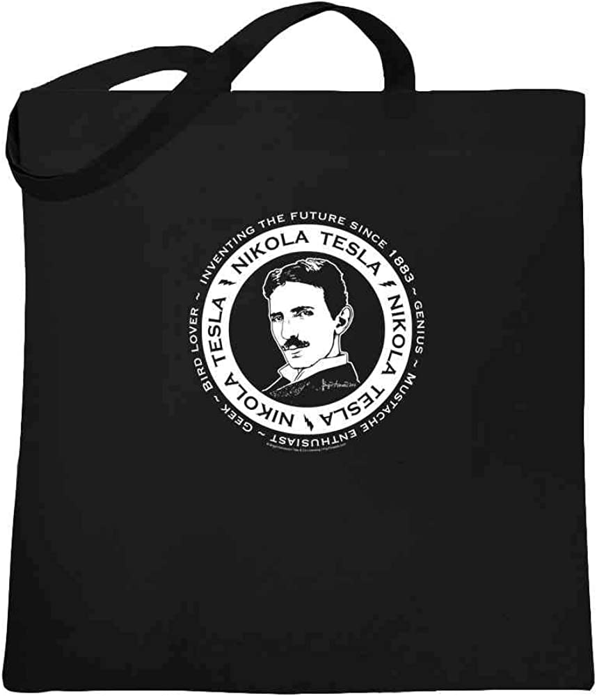 Tote bag 15x15 Nikola Tesla Steampunk