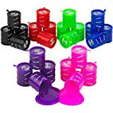 Kicko Small Barrel of Slime - 24 Pack Assorted Colors - Container 2 Inches - for Kids Boys and Girls, Party Favor, Fun, Toy, Novelty, Prize