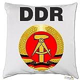 getshirts - Rahmenlos Geschenke - Kissen - DDR - Symbol - Weiss Uni
