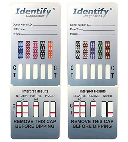 Save %10 Now! 50 Pack Identify Diagnostics 10 Panel Drug Test Dip - Testing Instantly for 10 Differe...
