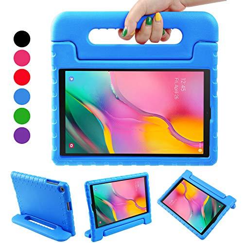 BelleStyle Custodia per Samsung Galaxy Tab A 10.1 2019, Antiurto Leggero Protettiva Maniglia Copertina Cover con Supporto per Bambini per Galaxy Tab A 10.1-Pollice T515/T510 2019 Rilascio (Blu)