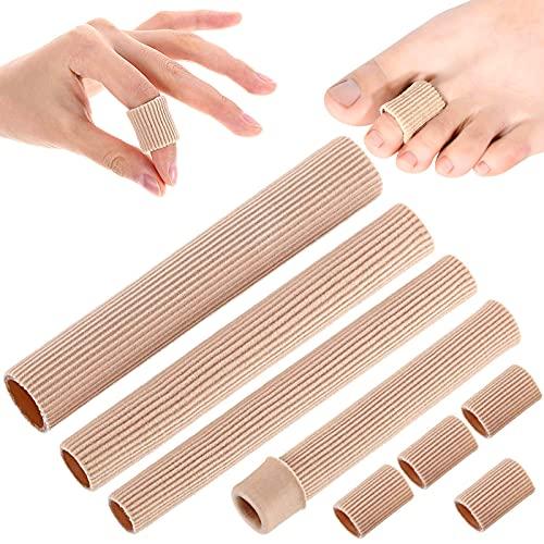 4pcs Protectores de Dedos Del Pie,Tubos de Dedo de Pie,separador de dedos,Protector de Almohadilla de Gel Suave,Gel Dedo del...