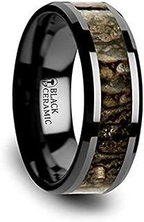 dinosaur bone inlay ring
