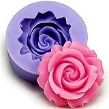 lumanuby 1pieza Formas, material de silicona Moldes, Exquisite Rose Forma de Flor Diseño, Mold tamaño: 3.8* 3.8* 1.6cm, color aleatorio, bonito accesorio de cocina para hornear