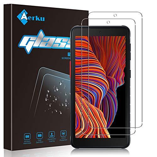 Aerku Pellicola Vetro Temperato Compatibile con Samsung Galaxy Xcover 5[2 Pezzi], 2.5D Ultra Sottile HD Anti Graffi Trasparente Pellicola Protettiva Vetro Temperato - Transparente
