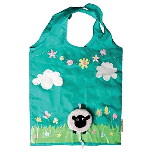 Sass & Belle Einkaufstasche, umweltfreundlich, wiederverwendbar, faltbar, Design: Schaf.