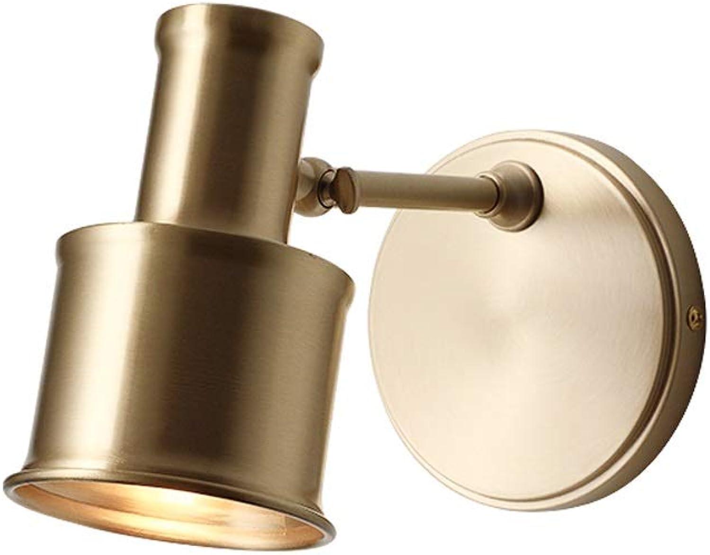 LifeX Nordic Gold Kupfer Nachtwandleuchte Wohnzimmer Schlafzimmer Wandleuchten Innentreppe Gang Wandleuchten Restaurant Goldene Messing Wandleuchte E27 Wandleuchte