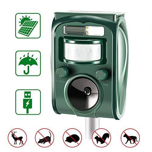 zonpor Repellente Gatti, Ultrasuoni Gatti Solar Animale Repeller Impermeabile per Allontanare Animali, Topi, Cani, Gatti, Uccelli