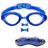 aegend Swim Goggles, Swimming Goggles of Flat Lens Replaceble Nose...