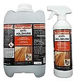 Anti Holzwurm 5,5 Liter Holzwurmspray Holzwurmmittel innen Holzfliegen Holzwurmex gegen holzschädigende Insekten