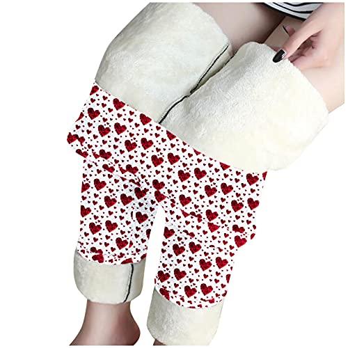 riou Mujer Leggings Invierno Cintura Alta con Forro Polar Grueso Pantalones de Térmico Pantalón Elásticos Forrado de Terciopelo Pants Deportivos