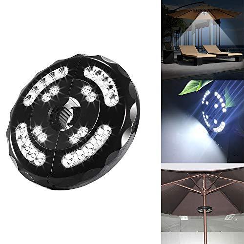 Powstro Luce per ombrellone, lampada a palo per ombrellone a LED a 28 cordless, luce per ombrello a LED portatile wireless per tende da campeggio allaperto