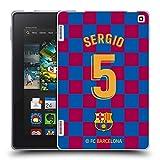 Head Case Designs Oficial FC Barcelona Sergio Busquets 2019/20 Jugadores Home Kit Grupo 2 Carcasa de Gel de Silicona Compatible con Amazon Fire HD 7