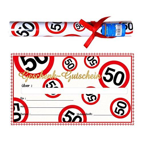 Geschenk Gutschein zum 50 . Geburtstag
