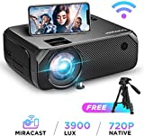 WIFI Projector, BOMAKER Wireless Video Projector Native 1280*720p, 3900 Lumens Portable Home Cinema