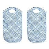 MIRTUX Pack de 2 baberos de adulto. Impermeables, lavables y reutilizables....