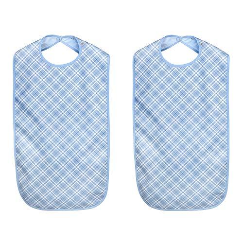 MIRTUX Pack de 2 baberos de adulto. Impermeables, lavables y reutilizables. Calidad...