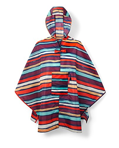 Reisenthel Mini Maxi Poncho, Giacca Impermeabile Donna, Multicolore (Artist Stripes), 141 x 116 cm