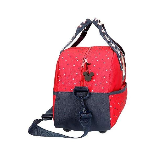 Disney Bolsa de Viaje Happy Mickey 40 cm, Color Rojo