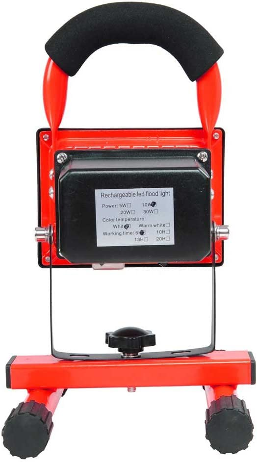 Red 10W Rechargeable Waterproof LED Cool Manufacturer Genuine Free Shipping direct delivery 6500K White Flood Light