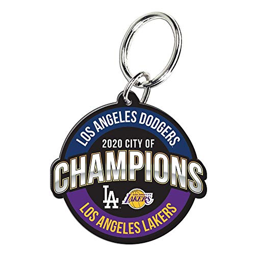 WinCraft Los Angeles Dodgers LA Lakers Dos Angeles City of Champions Dual Key Chain