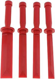 Kesoto 4 peças/lote Vermelho Carro Interior Porta Painel Áudio Estéreo Painel Painel Remoção de Painel
